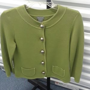 Ann Taylor green  knit jacket sz. S